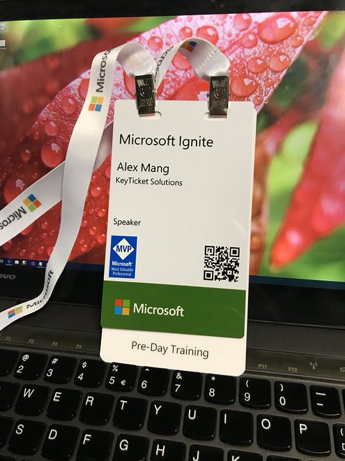 Microsoft Ignite Speaker badge