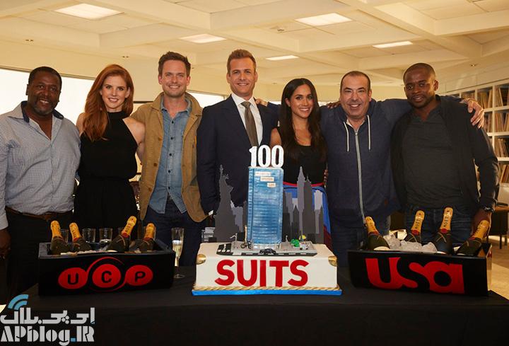جشن فیلمبرداری صدمین قسمت سریال Suits