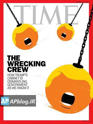 ترامپ روی جلد مجله تایم