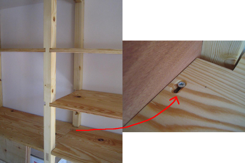 etagere bois garage