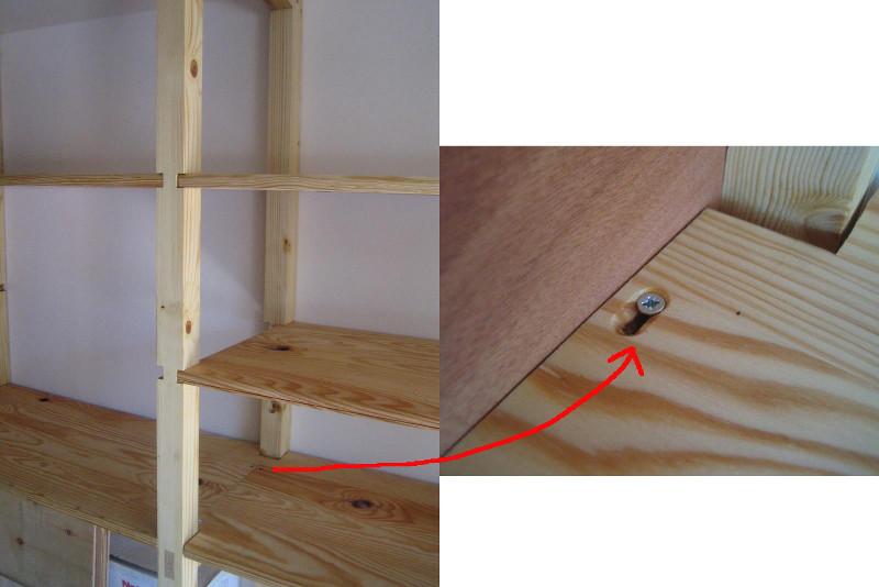 etagere bois pour garage