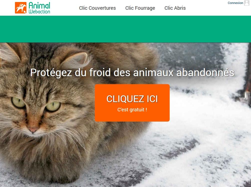 Un CLIC pour proteger du froid des Animaux abandonnes !
