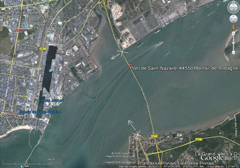 [Vie des ports] Port de Saint Nazaire - Page 2 _%20Carte%20pont%20St%20Nazaire-Mindin%20Google%2026-4-2011
