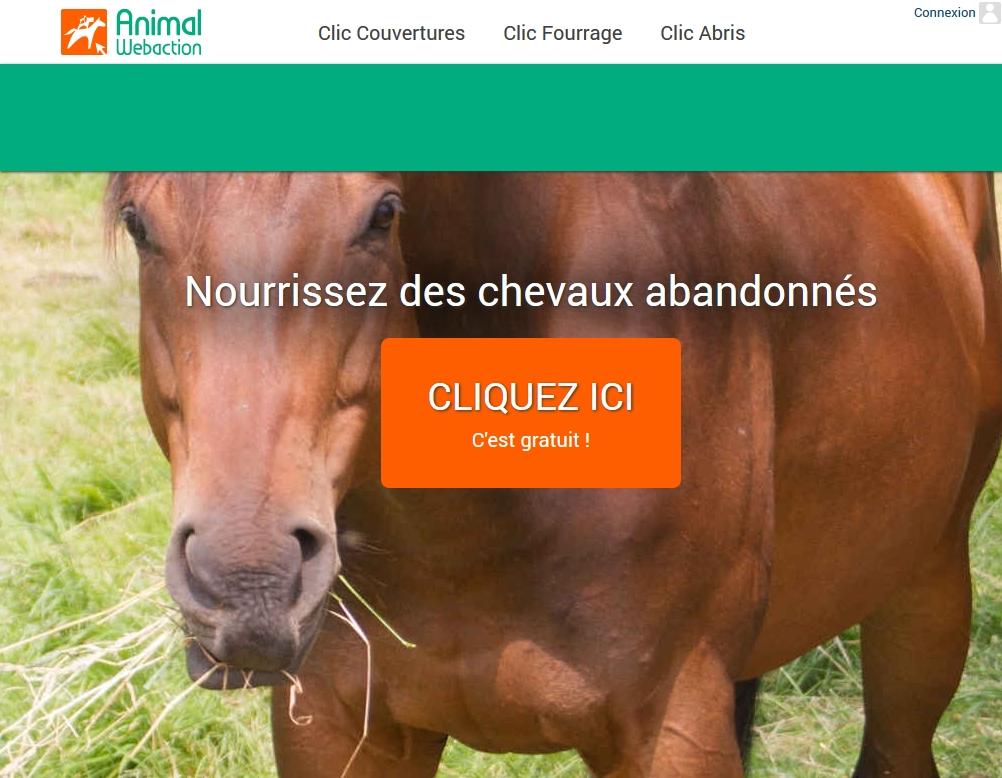 Un CLIC pour nourrir des Chevaux abandonnes !