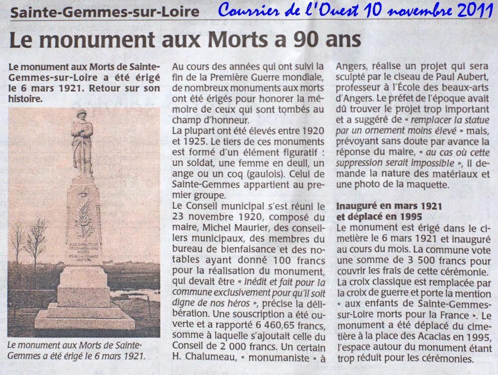 [Histoires et Histoire] Monuments aux morts originaux Français Tome 1 - Page 2 Monument%20aux%20Morts%20de%20St%20Gemme%20A33057